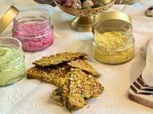 Protein Kürbis Buchweizen Cracker