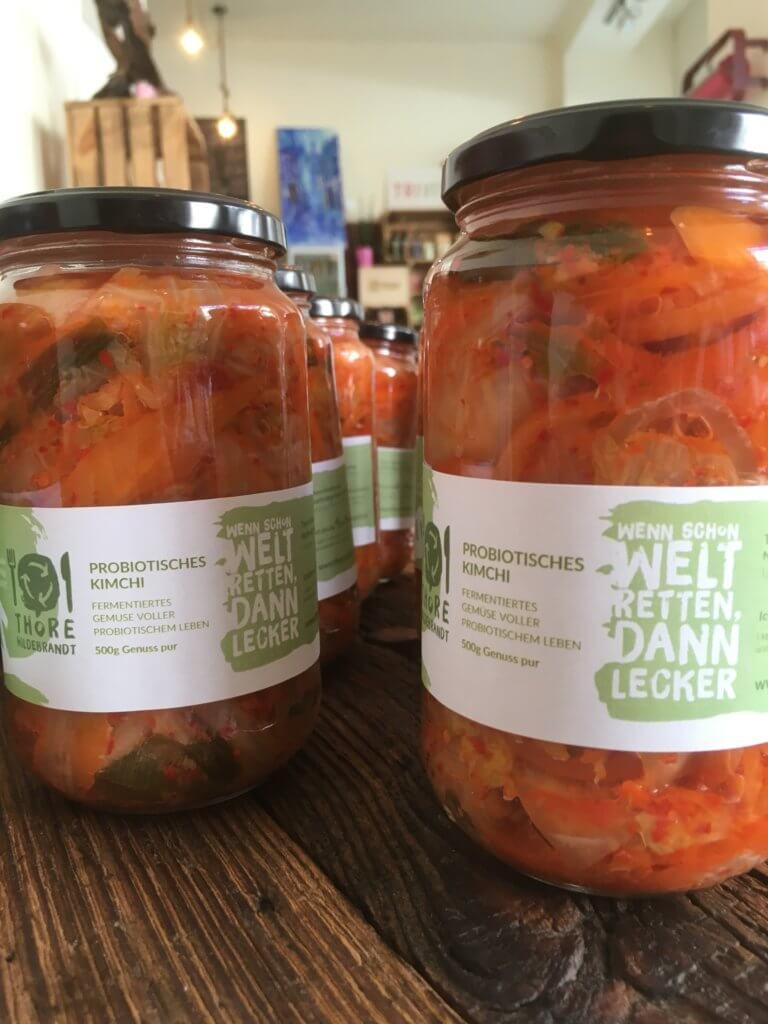 Probiotisches Kimchi Glas